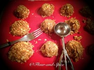 Anzac Biscuits on baking tray