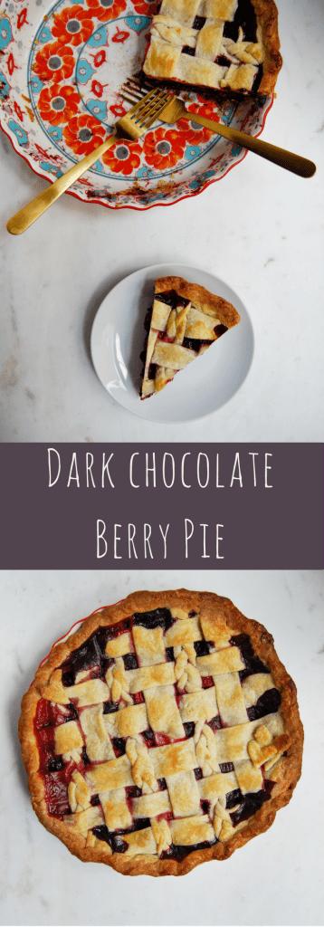 Dark Chocolate Berry Pie - Flour Covered Apron