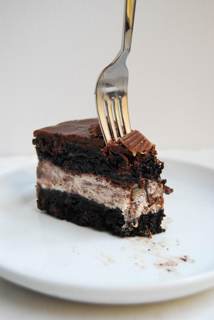 Moose Tracks Ice Cream Cake - Flour Covered Apron