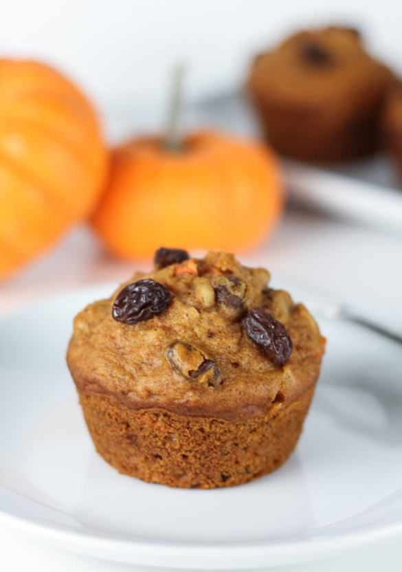 Pumpkin Morning Glory Muffins - Flour Covered Apron