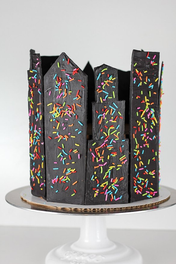 Candy Shard Skyscraper Cake - Flour Covered Apron