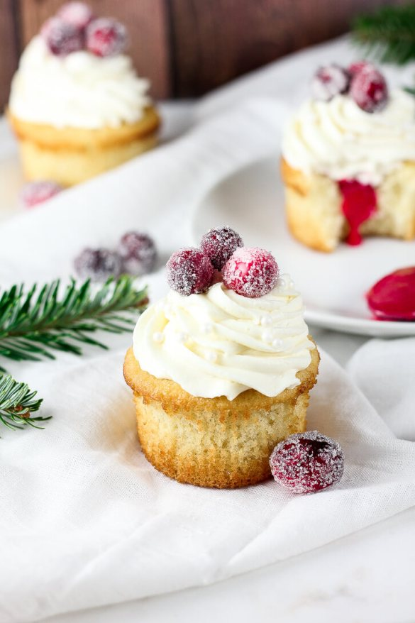 Cranberry and White Chocolate Cupcakes - Flour Covered Apron