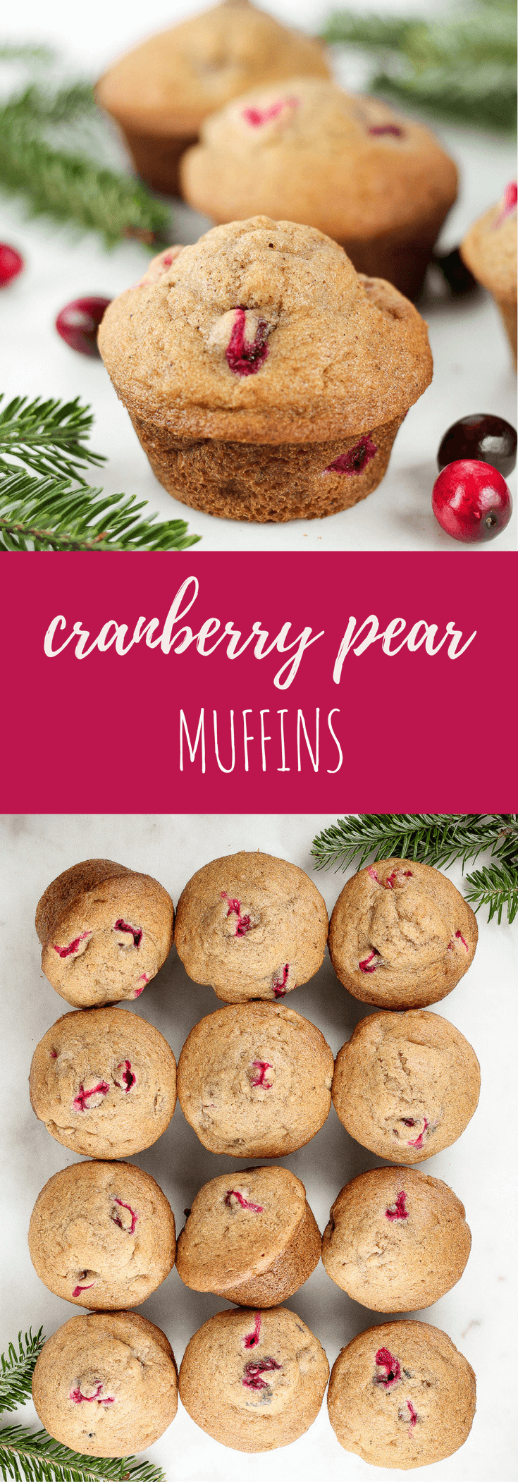 Cranberry Pear Muffins - Flour Covered Apron