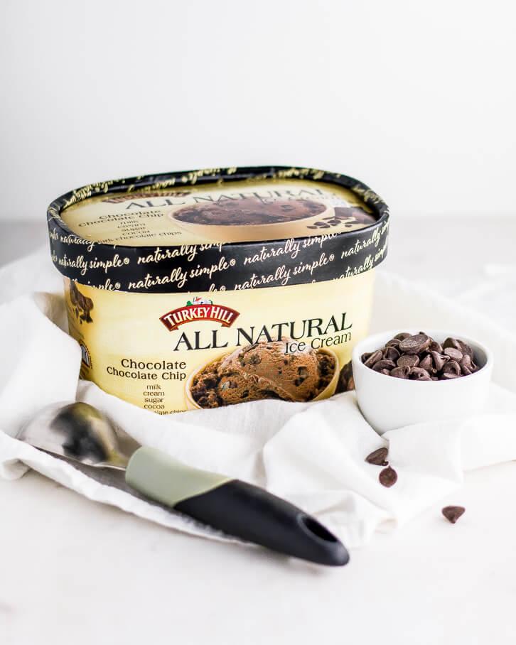 Chocolate Chocolate Chip Ice Cream Pie - Flour Covered Apron
