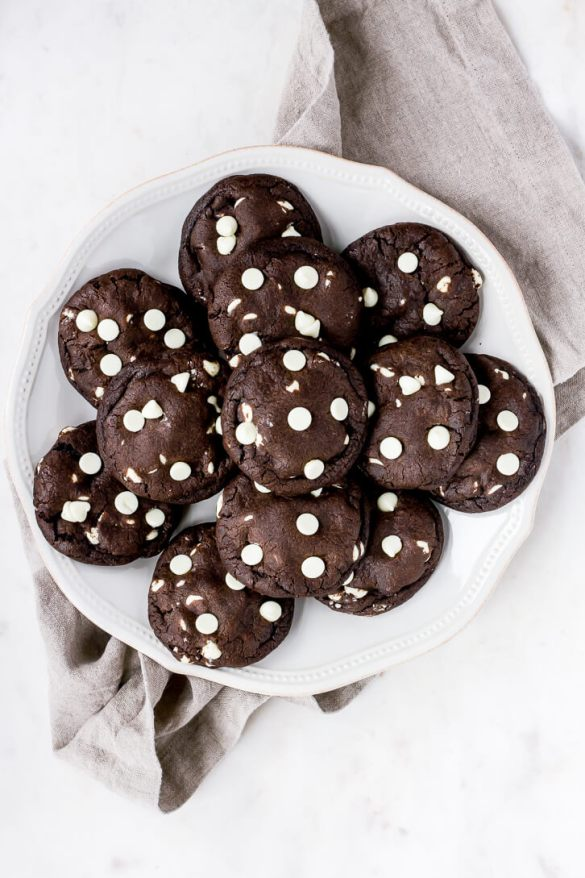 Dark Chocolate + White Chocolate Chip Cookies | Flour Covered Apron
