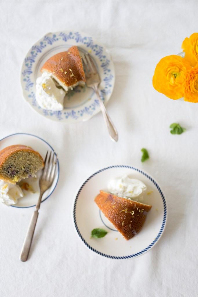 Grain Free Lemon Blackberry Poppyseed Bundt Cake | Flourish by Caroline Potter, NTP