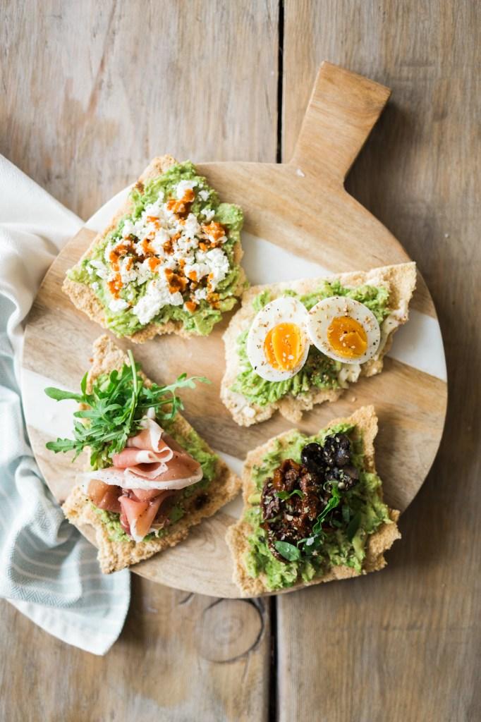 Grain-Free Avocado Toasts 4 Ways by Colorful Eats