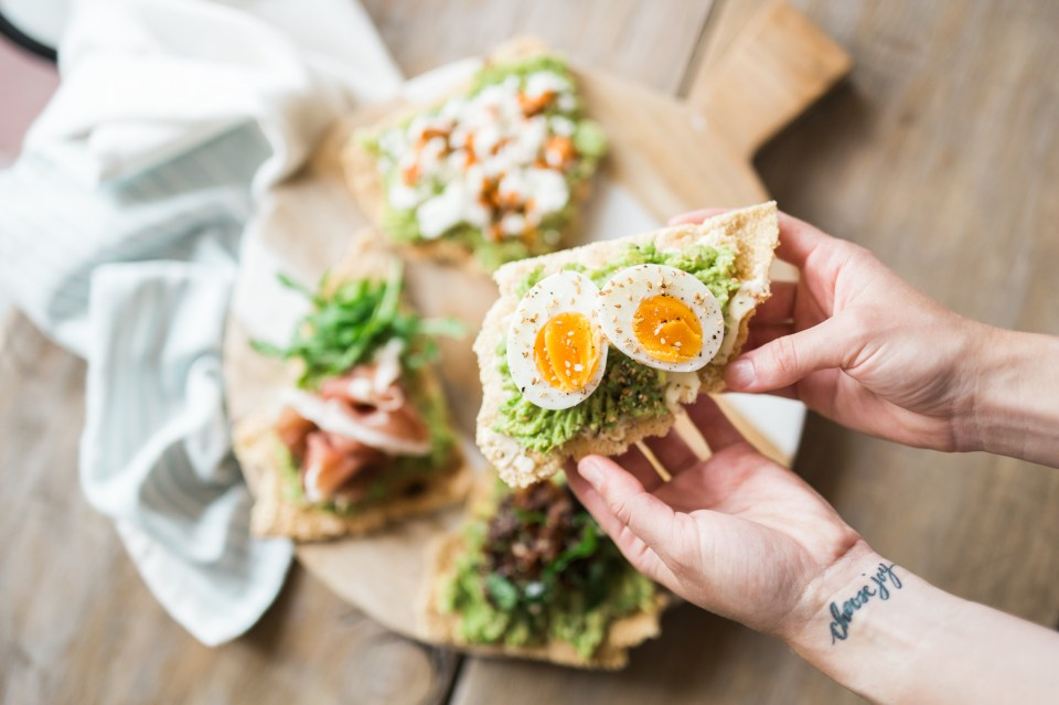 Grain-Free Avocado Toast 4 Ways by Colorful Eats