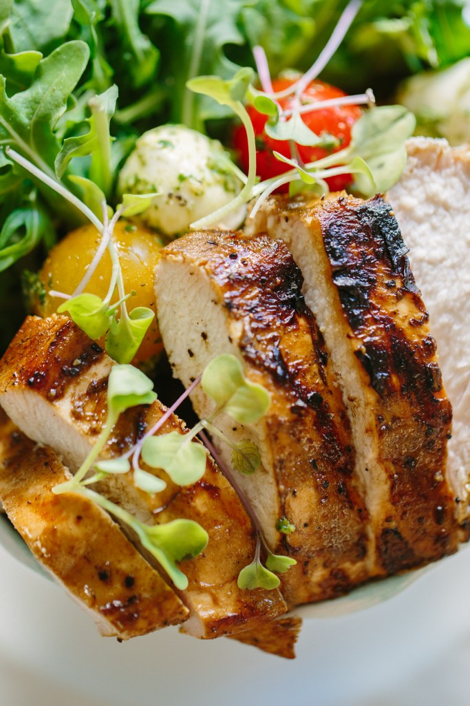 Gluten Free Caprese Pesto Chicken Salad by Colorful Eats