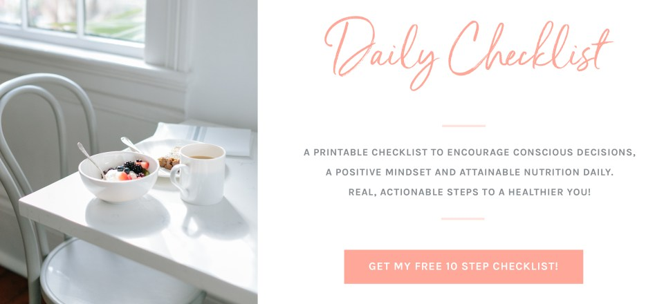 Daily Wellness Checklist