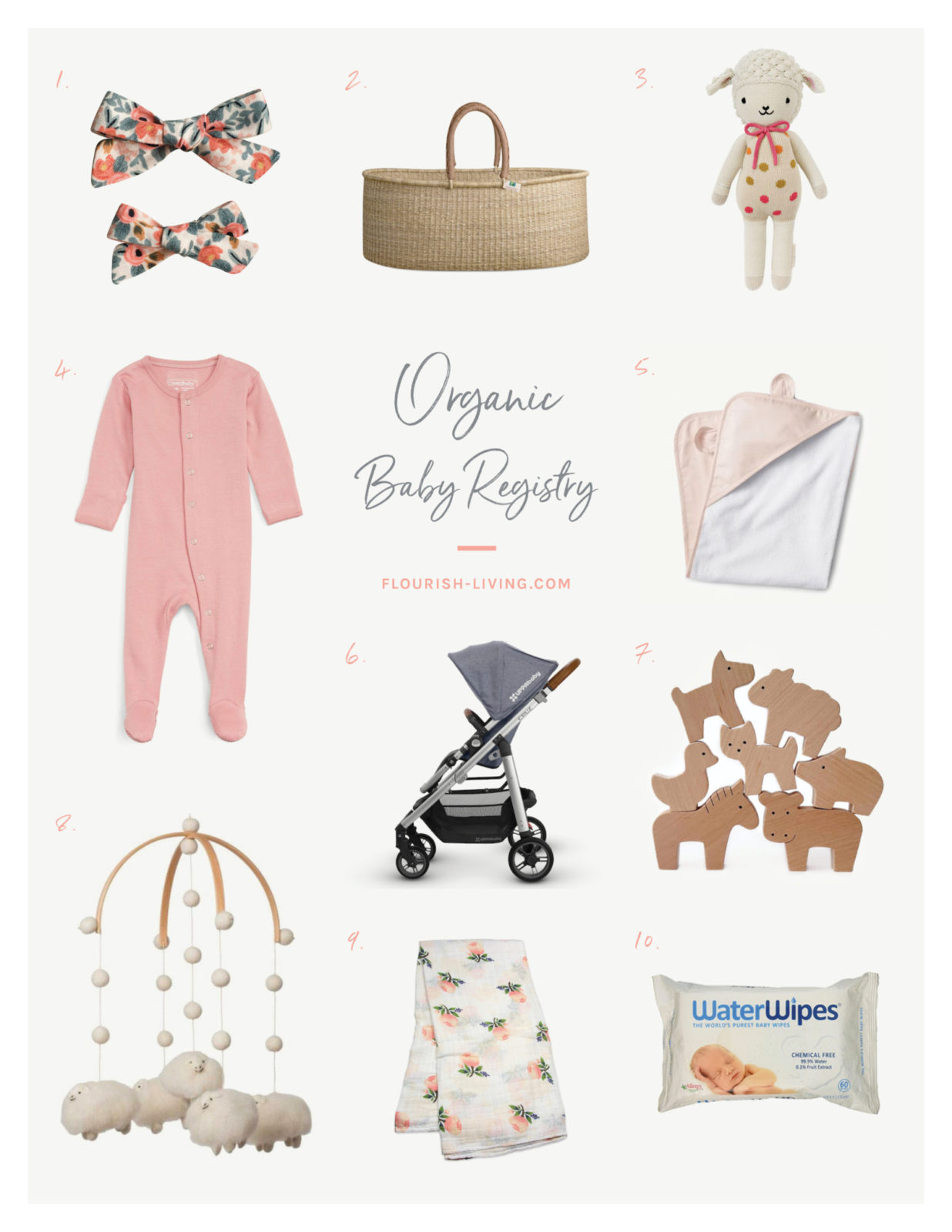 Organic Baby Registry | Flourish by Caroline Potter, NTP - Flourish
