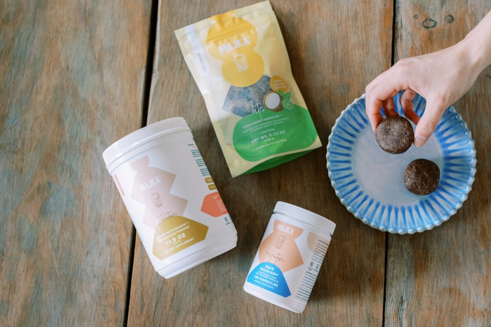 Majka postpartum nutrition products for mothers.