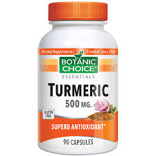 botanic choice organic turmeric bottle