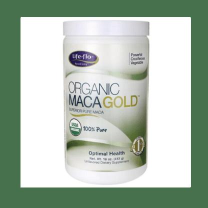 life flo organic maca gold container