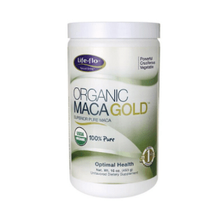 life flo organic maca gold container