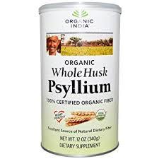 organic india psyllium husk cannister