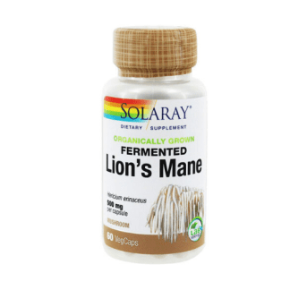 solaray organic lions mane capsule bottle