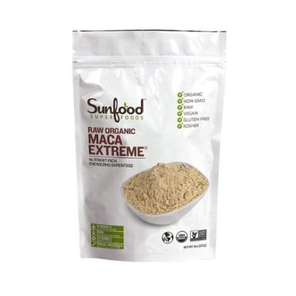 sunfood raw organic maca extreme powder pouch