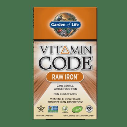 vitamin code vegan raw iron package