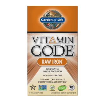 vitamin code vegan raw iron package