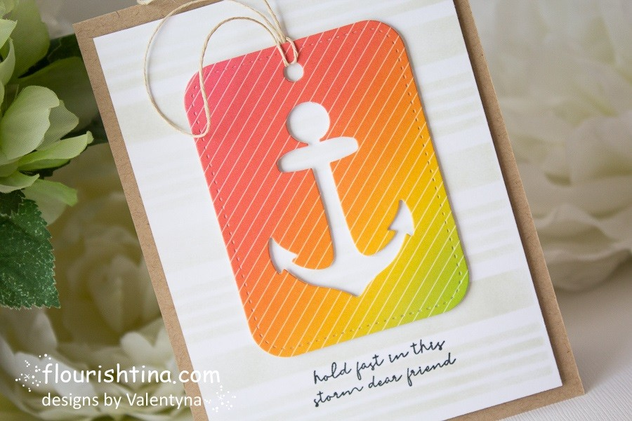 Nautical Stripes Tag Card