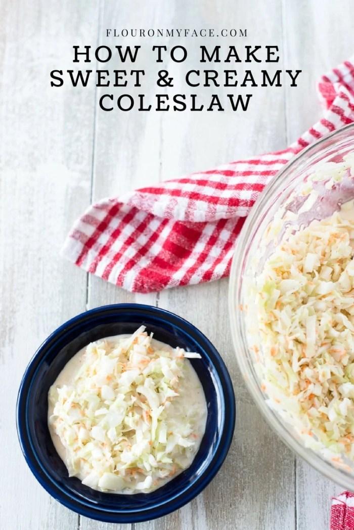 How To Make Coleslaw that tastes just like KFC Sweet Coleslaw