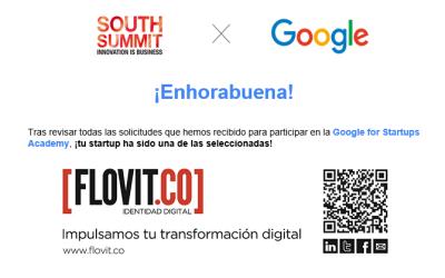 Flovit.co seleccionada para participar en el Google for Startups Academy en el South Summit 2019