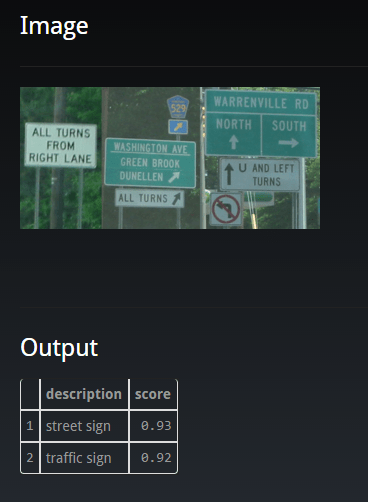 Street Sign Detected