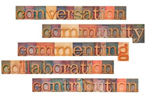 image of a community of words and blocks