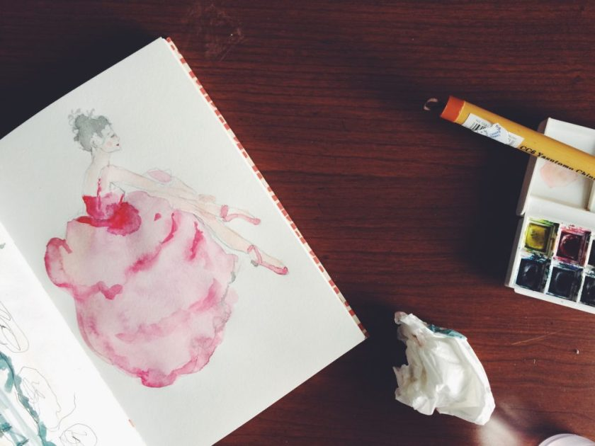 Ballerina in watercolor