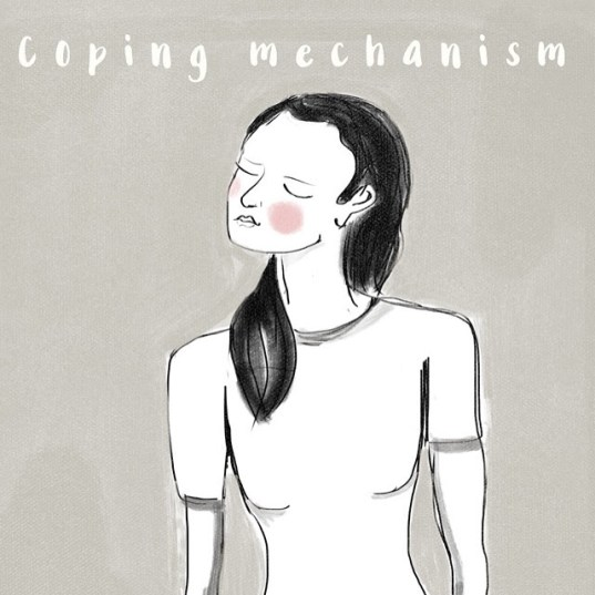 Coping Mechanism, Digital Illustration by Luisa Nino