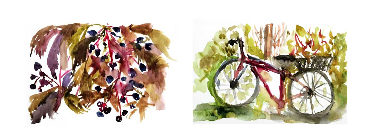 Changing watercolor style