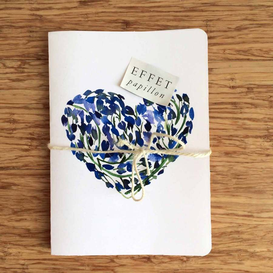 Blue valentine card