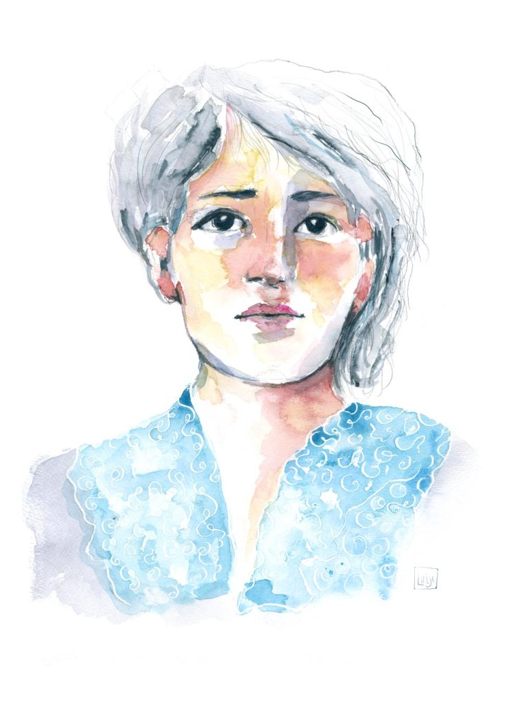 Camille Claudel Watercolor Portrait by Luisa Nino