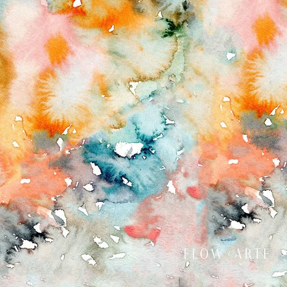 FlowArte Watercolor texture Closeup