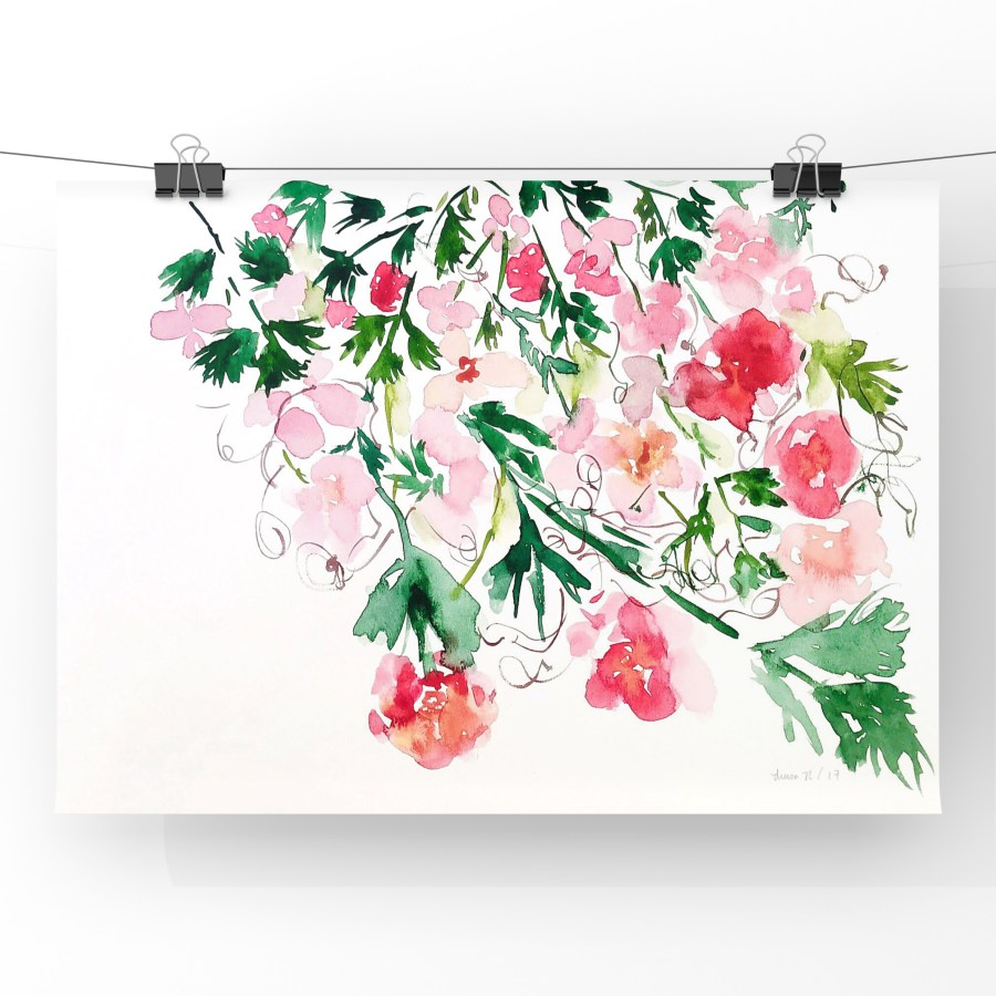 Floral Bouquet in Watercolor