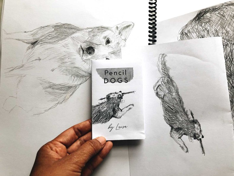 Front Cover of the Pencil Dogs Zine