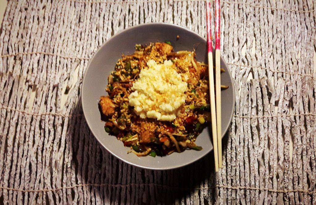 koolhydraatarme chinese wok
