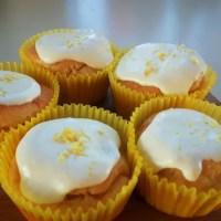 Koolhydraatarme citroencupcakes