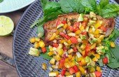 Pangasius met groentensalsa