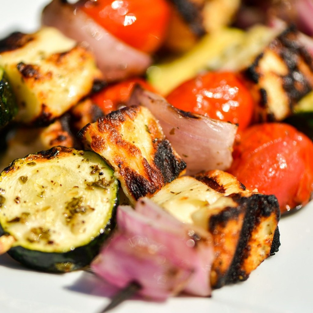 Halloumi & Vegetable Kebabs (3)