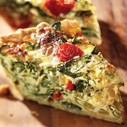 Homemade Mediterranean Vegetable Quiche