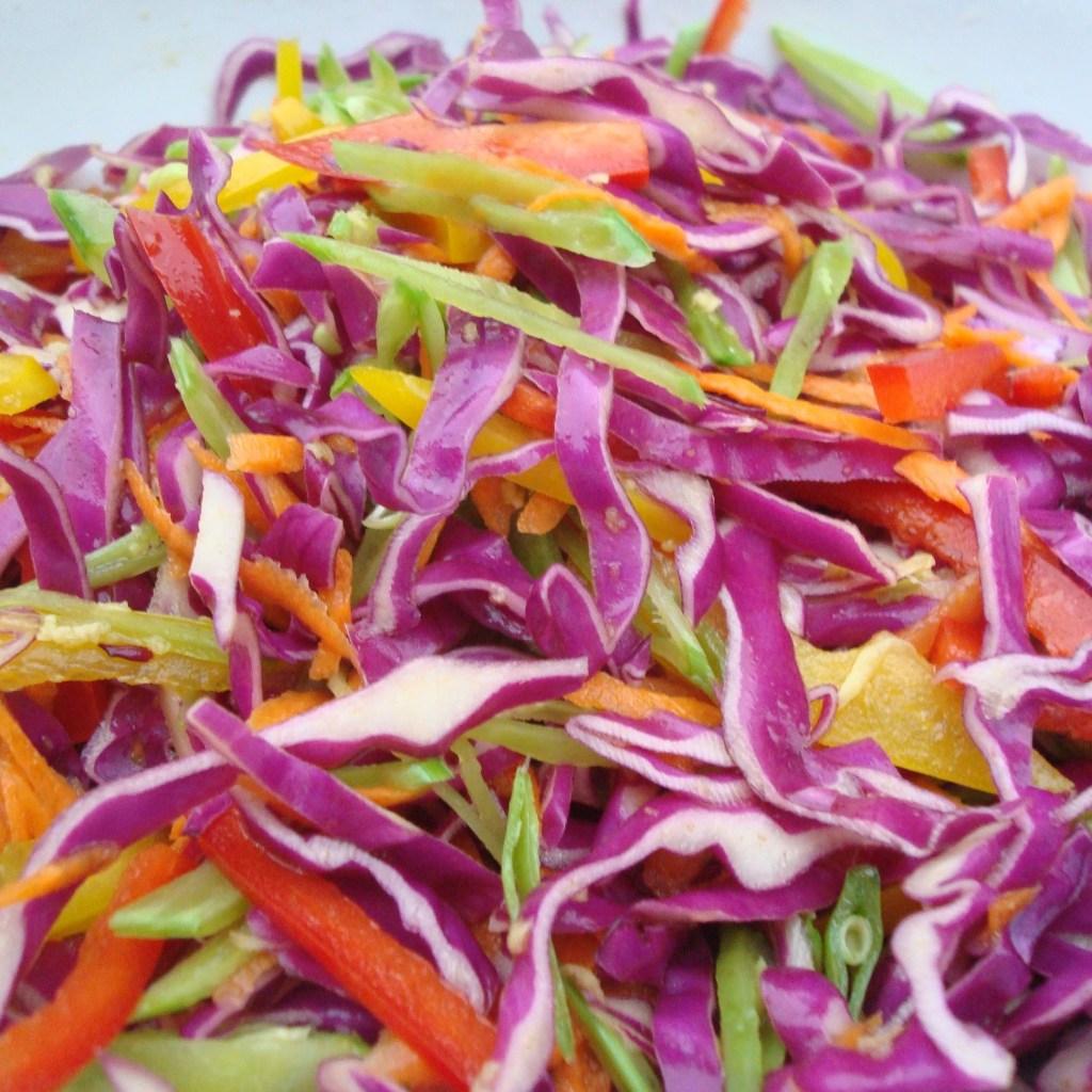 Homemade Rainbow Coleslaw