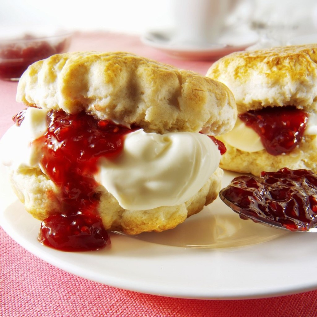 Cream Tea (Scones, Clotted Cream and Jam)