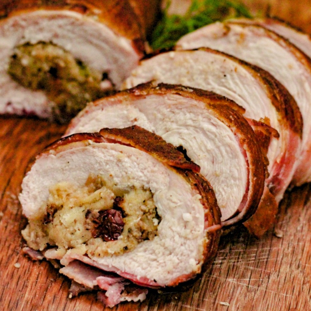 Special Breast Roast - Wrapped in Bacon with Stuffing