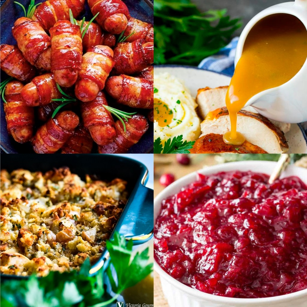 Trimmings Box (12 Pigs In Blankets, Gravy, Goose Fat, Stuffing, Bread Sauce & Cranberry Sauce)