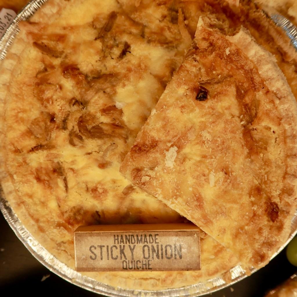 Homemade Sticky Onion Quiche