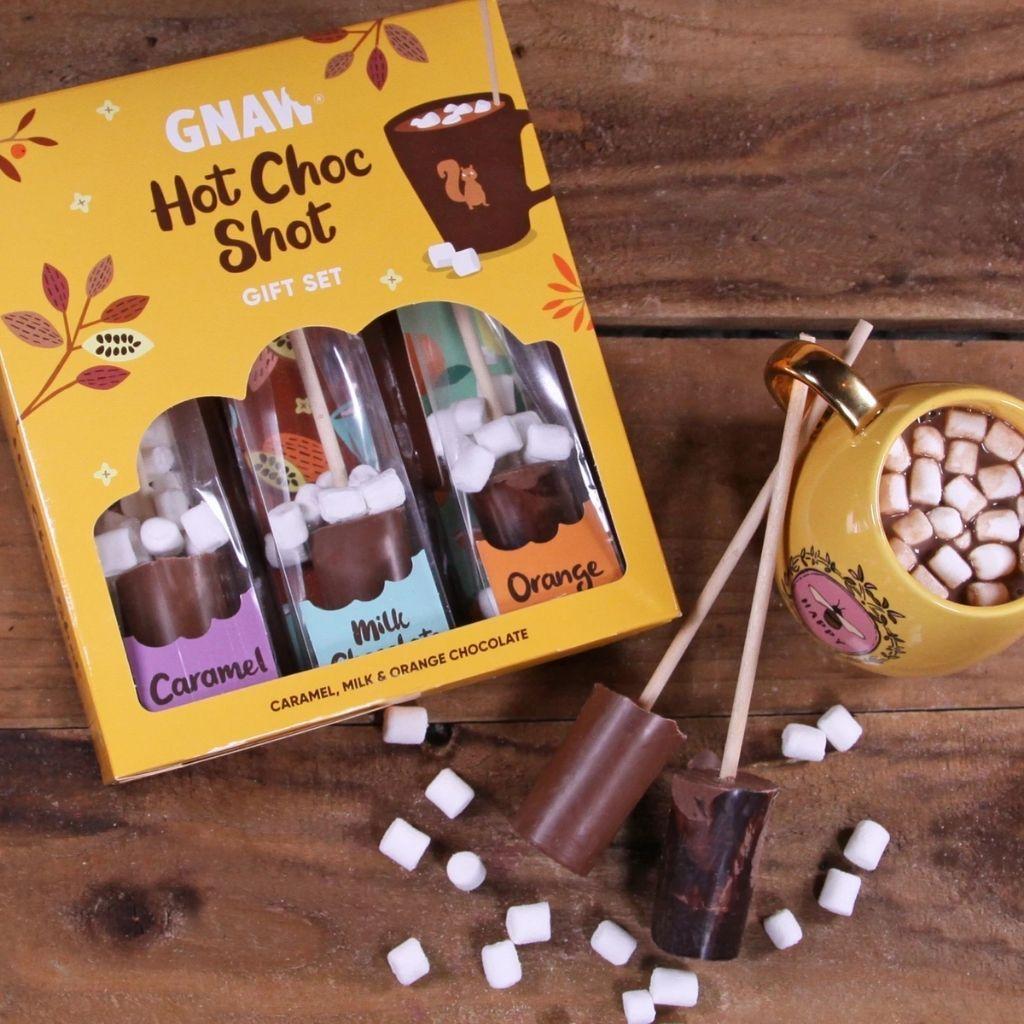 GNAW - HOT CHOCOLATE SHOT GIFT SET (150G)