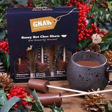GNAW - BOOZY FLAVOUR INFUSED HOT CHOC SHOT GIFT SET (NO ALCOHOL -150G)