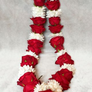 Wedding Garlands - Red and White
